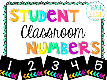 Classroom Numbers - Cards 1-32