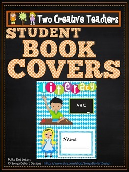 Student Book Covers Alice in Wonderland Theme
