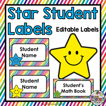 Student Labels and Name Tags Editable