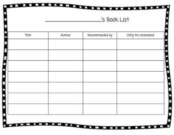 Student Book List Recorder