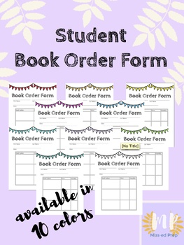 Student Book Order Form