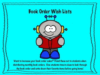 Student Book Order Wish Lists