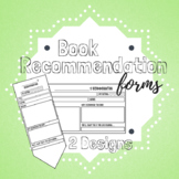 Student Book Recommendation Forms