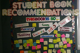 Student Book Recommendations Wall
