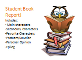 Student Book Report