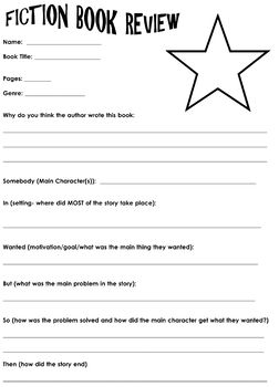 Student Book Review Sheet