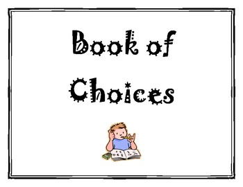 Student Book of Choices Classroom Management Printable