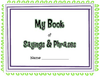 Student Book of Idioms, Sayings & Phrases (Core Knowledge 4th Grade)