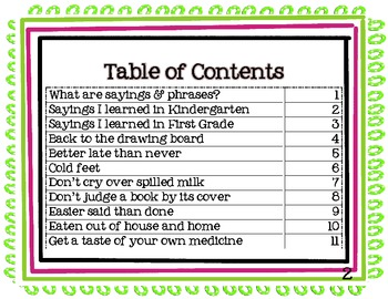 Student Book of Idioms, Sayings and Phrases