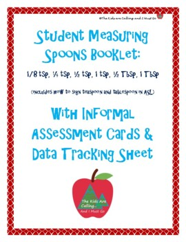Student Booklet & Informal Assessment with Data Sheet: Measuring Spoons