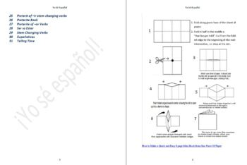 Student Booklets of Spanish Grammar Explanation