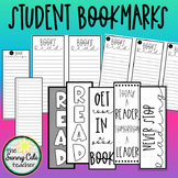 Student Bookmarks (40 Book Challenge, Book Lists, Reading Quotes)