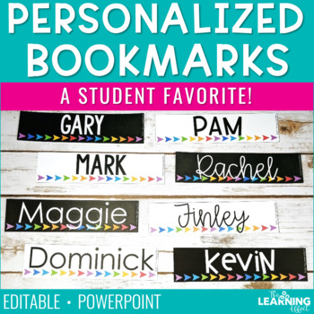 Personalized Bookmarks | Editable
