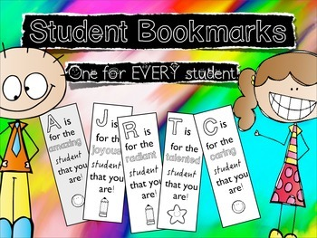 End of the Year Student Bookmarks/ {35 Pages}