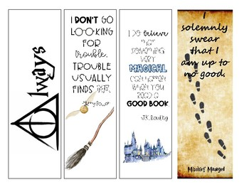Harry Potter Quotes Student Bookmarks By Going Fourth In
