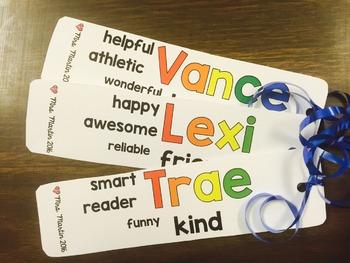 Student Bookmarks {custom order}