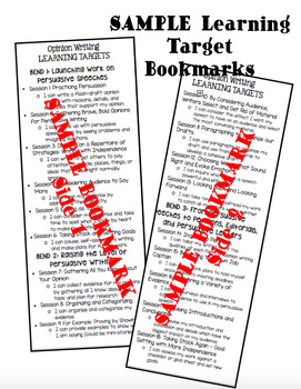 Student Bookmarks for ALL Lucy Calkins Writing Units - Third Grade