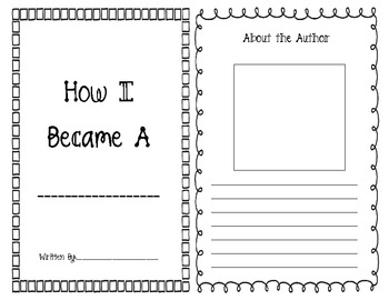 """Student Books: Organizer to use with """"How I Became a Pirate"""""""