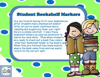 Student Bookshelf Markers