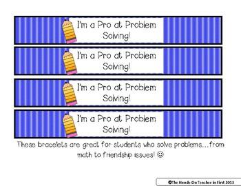 Classroom Management: Student Brag Bracelets - Great for Positive Reinforcement!