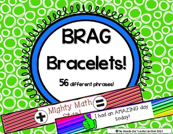 Classroom Management: Student Brag Bracelets - Great for P