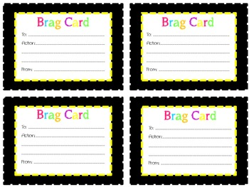 Student Brag Notes