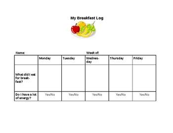 Student Breakfast Log