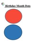 Student Bulletin Board Birthday Blank Dots