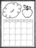 Student Calendar to Match Polka Dot Behavior Clip Chart