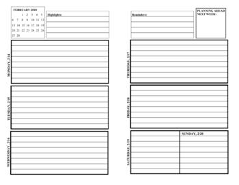 Student Calendar/Planner booklet