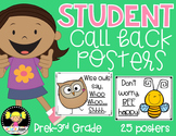 Student Call Back Posters