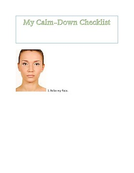 Student Calm-Down Visual Checklist