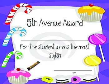 Student Candy Bar Awards 2!