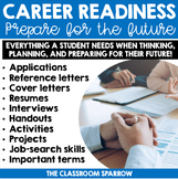 Career Exploration Activities BUNDLE (resume, cover letter, job interview, etc.)