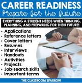 Career Exploration Activities BUNDLE (resume, cover letter, job interview, etc.)