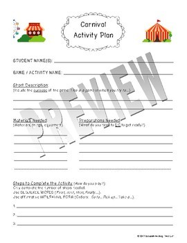 Student Carnival Project: Organizational Tools to Help Students Plan a Carnival