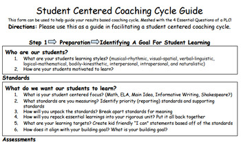 Student Centered Coaching Cycle Guide