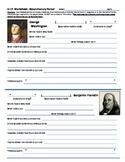 History U.S. - Historical Figures Research Sheets - Revolutionary Era