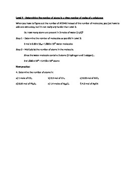 Student-Centered Moles Worksheet