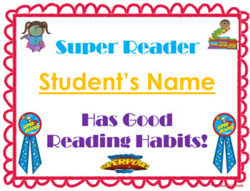 Seven Editable Student Certificates & Awards: Reading & Writing Awards & More