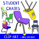Student Chairs Clip Art