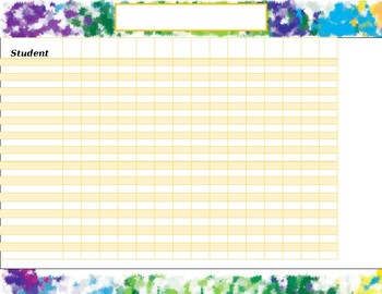 Student Charts (editable!)