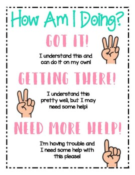 Student Check In Anchor Chart