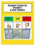 Student Check-In & Exit Slip Posters
