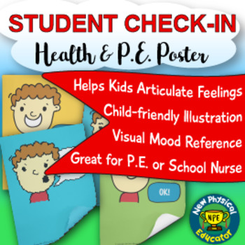 "Student ""Touchable"" Check-In Assessment Health and Physical Education Poster"