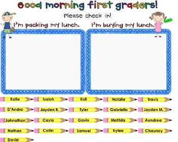 Student Check-In for SMART Board {Freebie}