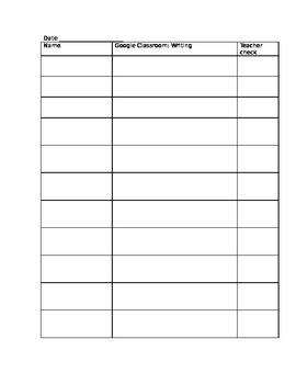 Student Check List
