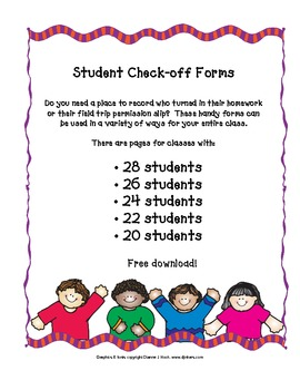 Student Check Off Forms