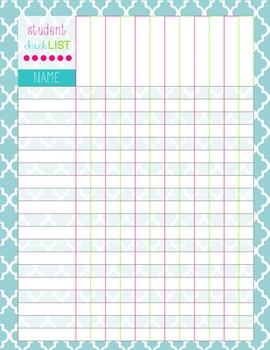 cute checklist