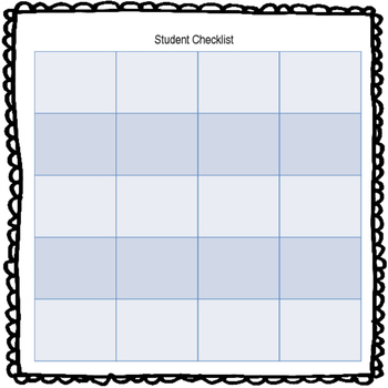 Student Checklist